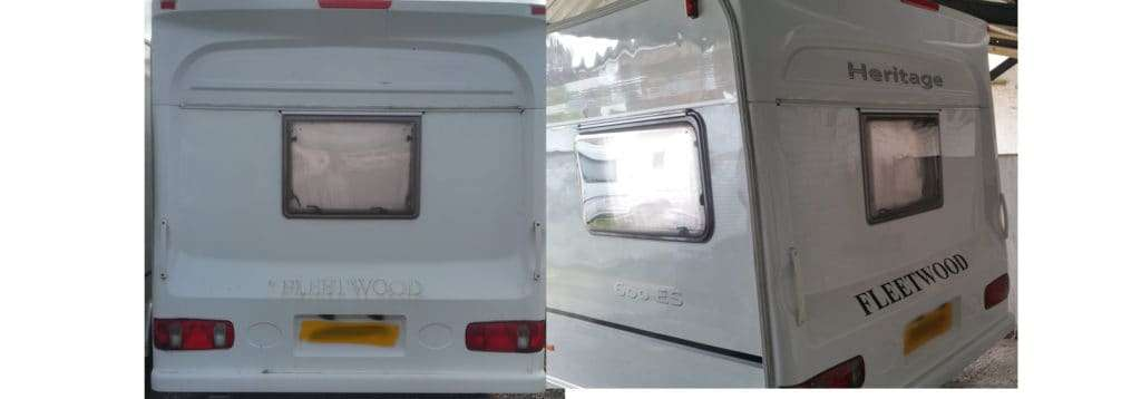 Fleetwood Heritage Caravan Sticker Replacement and Polish