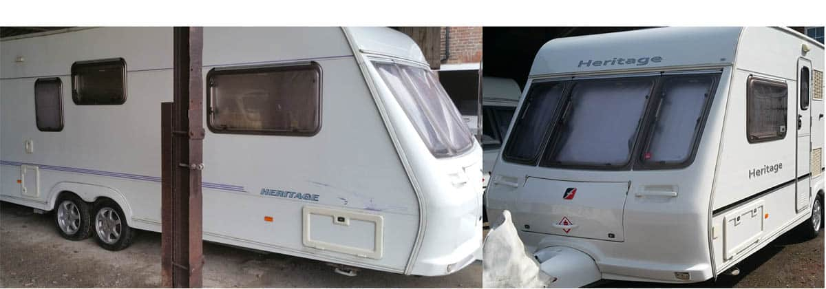 fleetwood heritage sticker replacement and caravan polish 2
