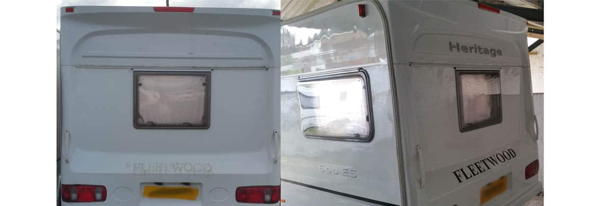 fleetwood heritage sticker replacement and caravan polish