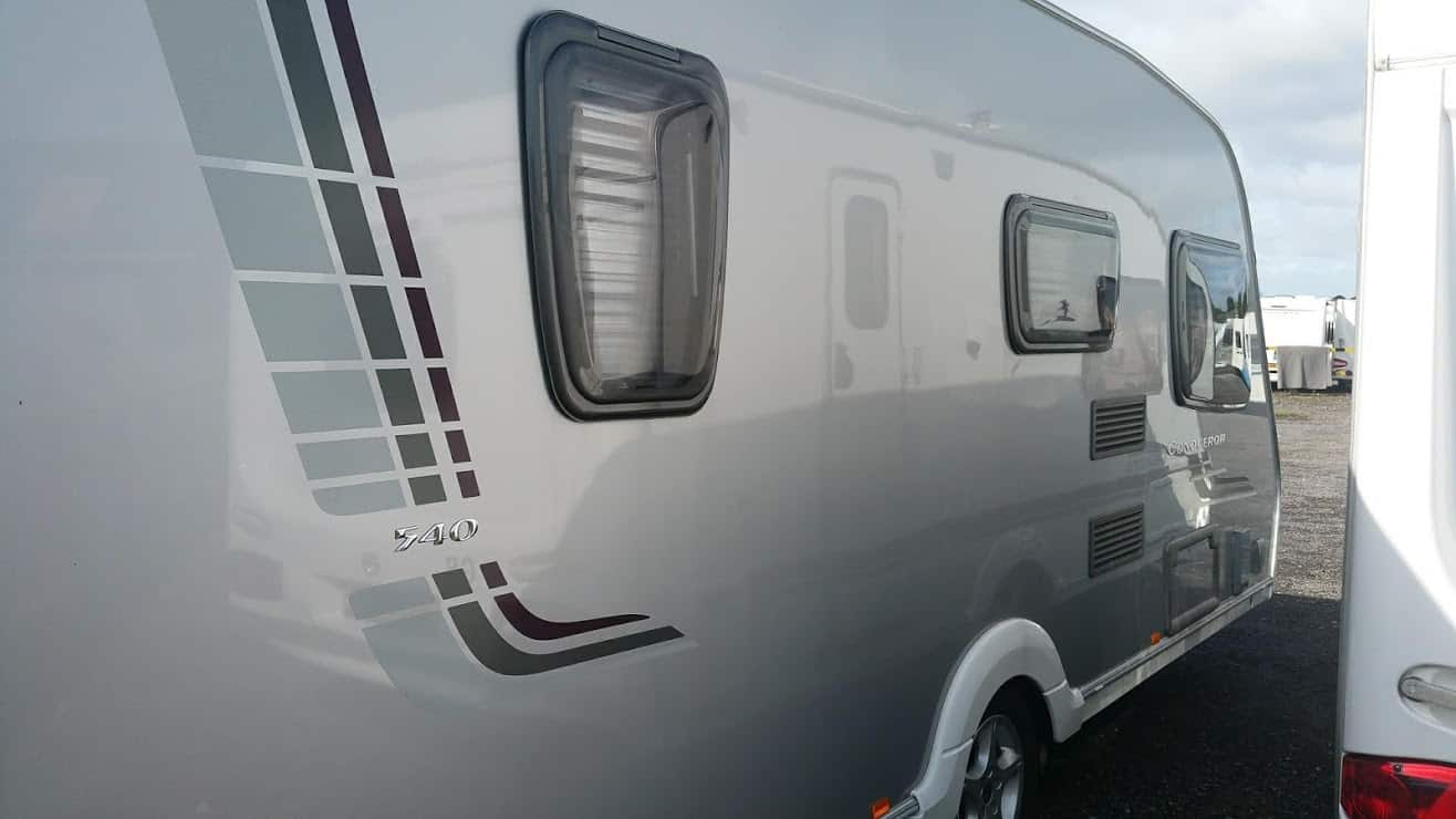 Swift Conqueror Caravan silver side caravan with restoration polish and protection